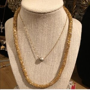 Jewelry - 14K Gold Diamond Cut Disco Ball Pendant Necklace